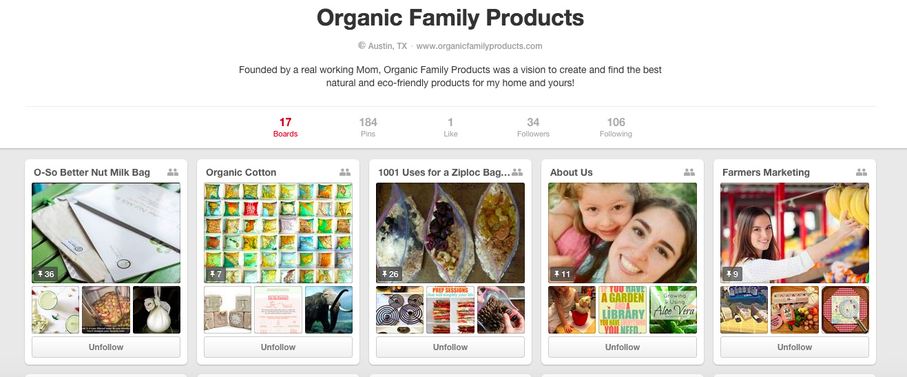 Organic Family Products on Pinterest